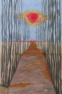 End of the Road Watercolor Painting by Marilyn Armor